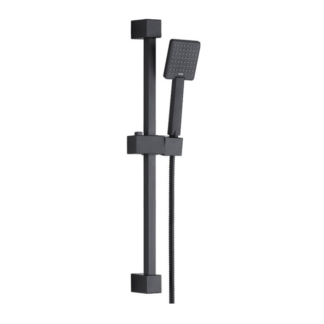 Harbour Status Matt Black Shower Rail Kit