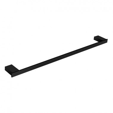 Harbour Status Matt Black Single Towel Rail