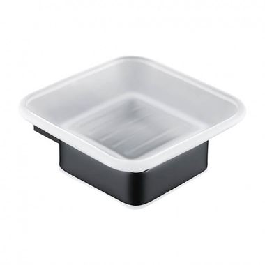 Harbour Status Matt Black Soap Dish