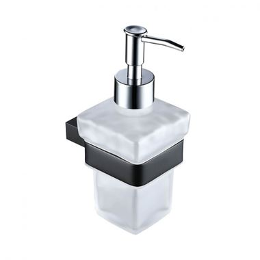 Harbour Status Matt Black Soap Dispenser