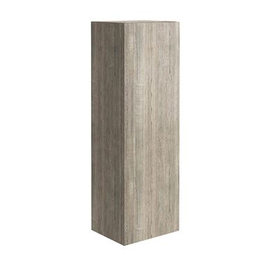 Harbour Virtue 900mm Wall Mounted Tall Storage Cabinet - Grey Oak