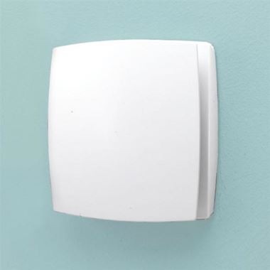 HIB Breeze White Wall Mounted Slimline Low Profile SELV Fan
