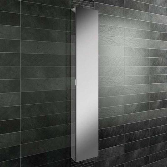 Hib Eris Tall Mirrored Cabinet With, Tall Bathroom Mirror Cabinet