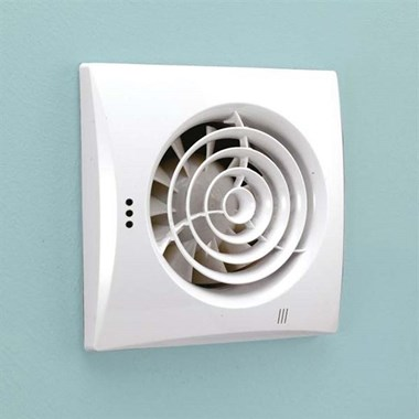 HIB Hush Wall Mounted Slimline Lowprofile Fan with Timer & Humidity Sensor