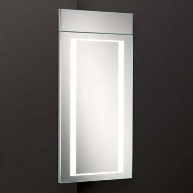 HiB Minnesota Corner LED Illuminated Mirror Cabinet - 300 x 630mm