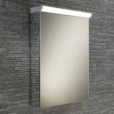 HiB Spectrum LED Illuminated Mirror Cabinet with Mirrored Sides