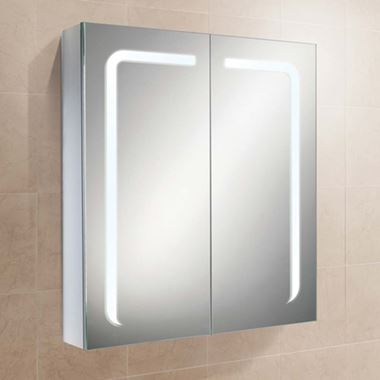 HiB Stratus LED Demisting Mirror Cabinet with Shaver Socket - 600 x 700mm