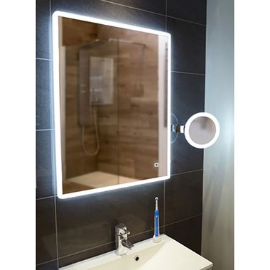 HIB Vega Portrait LED Illuminated Ambient Mirror - 600 x 800mm