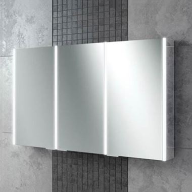 HiB Xenon 120 LED Illuminated Mirror Cabinet with Mirrored Sides - 1205 x 700mm