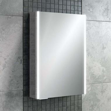 HiB Xenon 50 LED Illuminated Mirror Cabinet with Mirrored Sides - 505 x 700mm