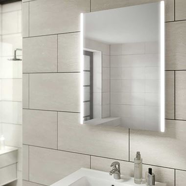 HiB Zircon LED Illuminated Steam Free Mirror - 500, 600 & 800mm