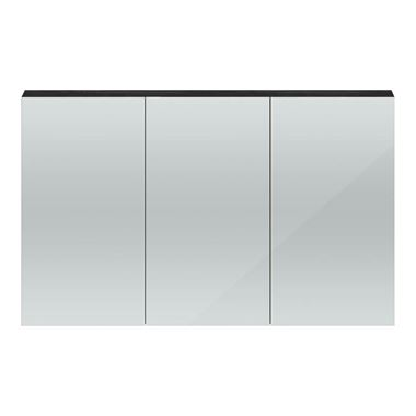 Hudson Reed 1350mm Mirror Cabinet - Hacienda Black