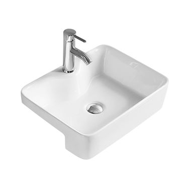 Hudson Reed 480mm Rectangular Semi-Recessed Countertop Basin