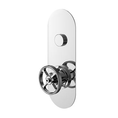 Hudson Reed Revolution Industrial 1 Outlet Push Button Concealed Thermostatic Shower Valve