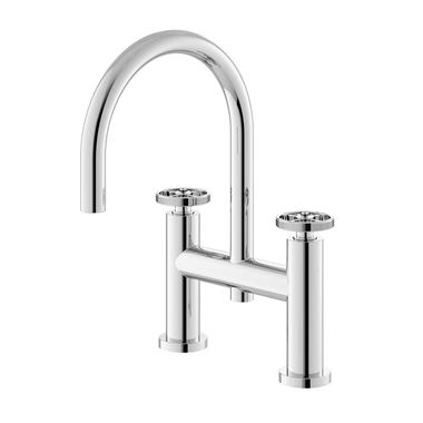 Hudson Reed Revolution Industrial Deck Mounted Bath Filler Tap