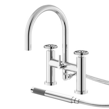 Hudson Reed Revolution Industrial Bath Shower Mixer & Kit
