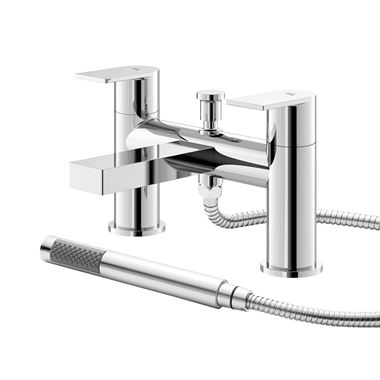 Hudson Reed Sottile Round Bath Shower Mixer Tap & Kit