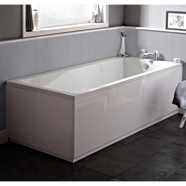 Drench High Gloss White Wooden Bath Front Panel & Plinth - 1800mm