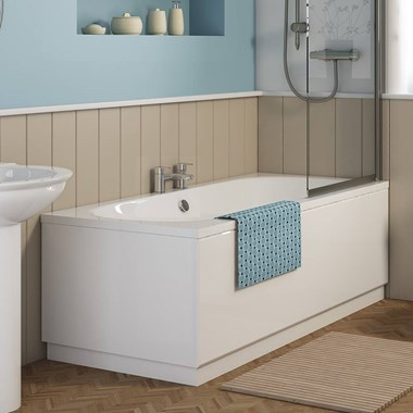 Hugh Double Ended Bath - 1700 x 700mm & 1700 x 750mm & 1800 x 800mm