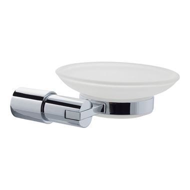 Hugo Frosted Glass Soap Dish & Holder