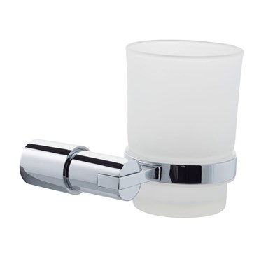 Hugo Frosted Glass Tumbler & Holder