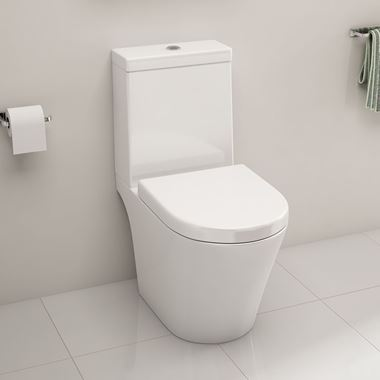 Imex Arco Open Back Close Coupled Toilet with Luxury Seat - 660mm Projection