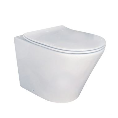 Imex Arco Rimless Wall Hung WC & Duraplast Soft Close Seat - 520mm Projection