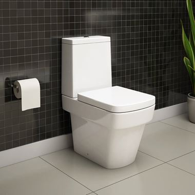 Imex Bloque Close Coupled Toilet with Luxury Seat - 630mm Projection