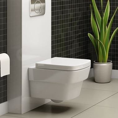 Imex Bloque Wall Hung Toilet with Luxury Seat - 500mm Projection