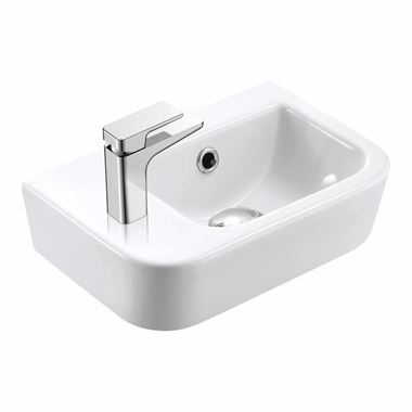 Imex Essence 370mm Wall Hung Cloakroom Basin - Left Hand Tap Hole