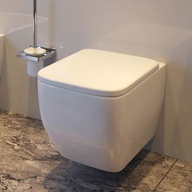 Imex Essence Short Projection Toilet with Luxury Slimline Seat - 470mm Projection