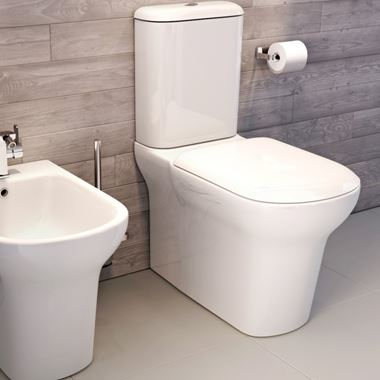 Imex Grace Comfort Height Close Coupled Toilet with Luxury Seat Options - Closed Back - 660mm Projection