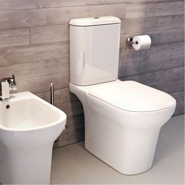 Imex Grace Comfort Height Close Coupled Toilet with Luxury Seat Options - Open Back - 650mm Projection