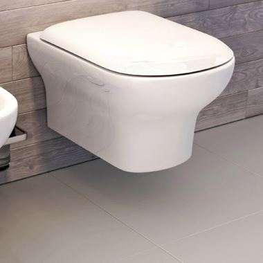 Imex Grace Rimless Wall Hung WC with Luxury Puraplast Seat - 500mm Projection