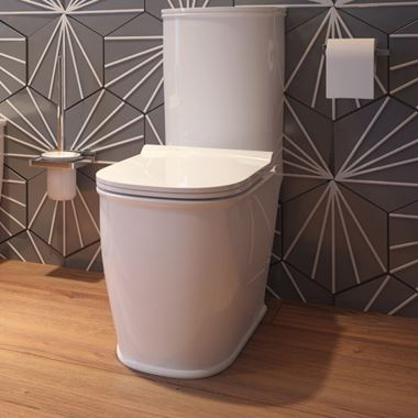 Imex Liberty Close Coupled Toilet with Seat - 680mm Projection