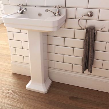 Imex Wyndham Traditional 515mm Cloakroom Pedestal Basin