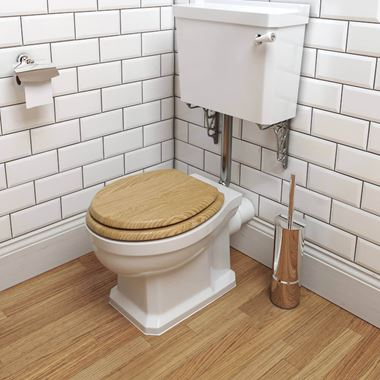 Imex Wyndham Traditional Low Level Toilet & Oak Seat