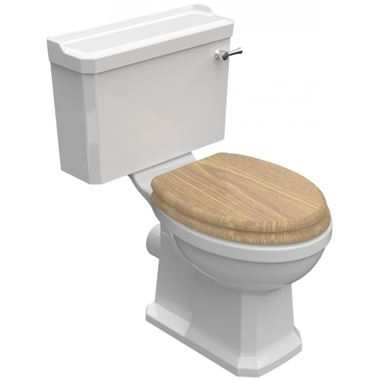 Imex Wyndham Traditional Toilet & Oak Seat - 690mm Projection