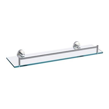 Inox Brushed Stainless Steel Glass Shelf - 520mm
