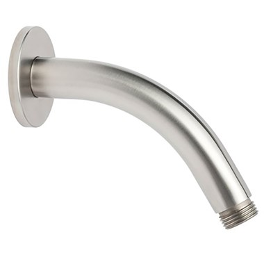 Inox Brushed Stainless Steel Short Shower Arm - 200mm