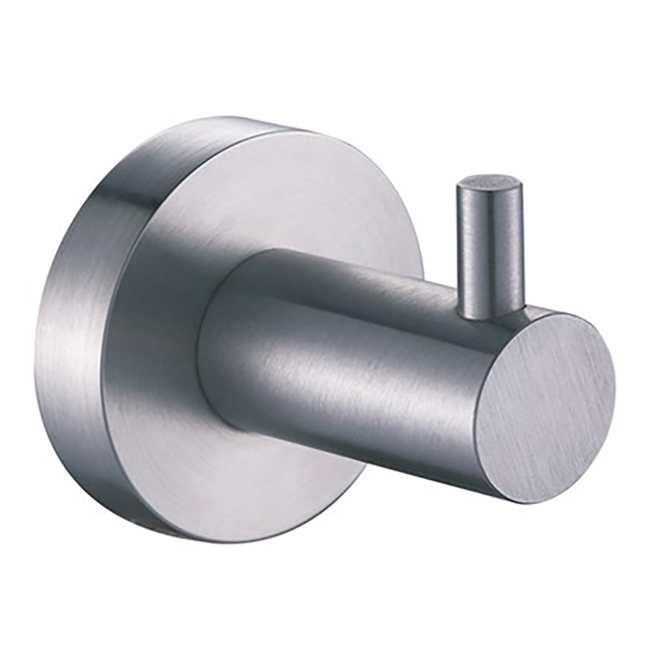 Inox Brushed Stainless Steel Single Robe Hook