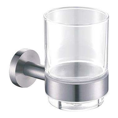 Inox Brushed Stainless Steel Wall Mounted Tumbler Holder