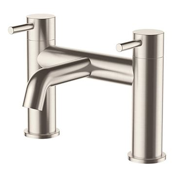 Inox Brushed Stainless Steel Deck Mounted Bath Filler