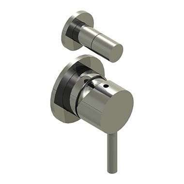 Inox Brushed Stainless Steel Concealed Manual Diverter Valve - 2 Outlets
