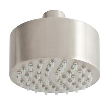 Inox Brushed Stainless Steel Mini Overhead Shower Head - 89mm