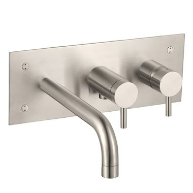Inox Brushed Stainless Steel Wall Mounted Bath Shower Mixer