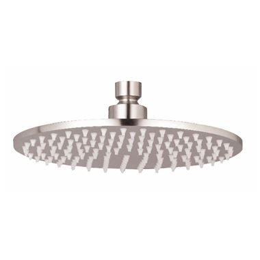 Inox Slim Round Overhead Brushed Stainless Steel Fixed Shower Head