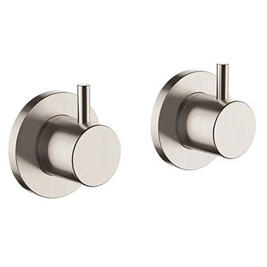 Inox Wall Panel Brushed Stainless Steel On/Off Valves