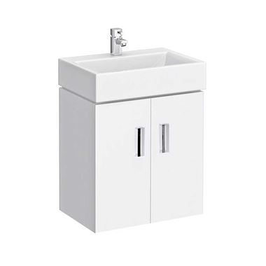 Jack 460mm Wall Mounted Gloss White Vanity Unit & Basin