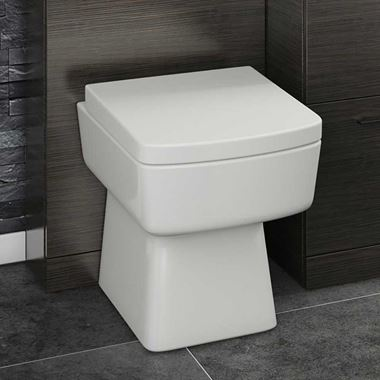 Jack Square Back to Wall Toilet & Soft Close Seat - 520mm Projection